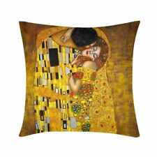 Vintage Gustav Klimt Cushion Cover Square Throw Pillow Case Waist Couch 16 18 20