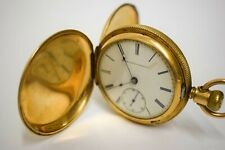 1882 Elgin Pocket Watch 13j 18s Beautifully Engraved Case GM Wheeler