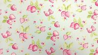 Clarke and Clarke Strawberry Duckegg Designer Curtain Upholstery Craft Fabric