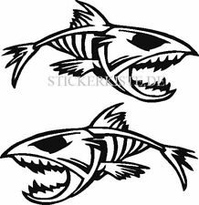 2 Aufkleber Angry Fish Fisch Auto Sticker Decal 17 Cm Tuning JDM