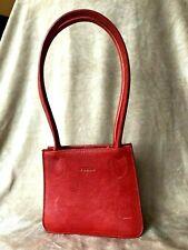 Furla Mini bag, red leather, Italian, small purse, double handles