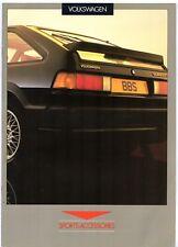 Volkswagen Sports Accessories 1986 UK Brochure Polo Golf Jetta Passat Scirocco