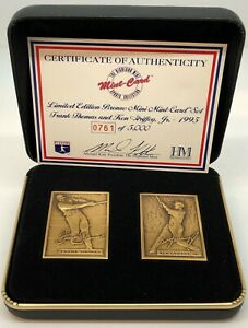 Highland Mint Frank Thomas and Ken Griffey, Jr Bronze Coin with Case 0761/2500!