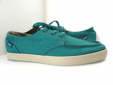 REEF Men's 3261 Deck Hand 2 Turquoise Casual Canvas Sneakers Shoe Size 8