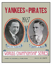 1927 World Series - (Yankees & Pirates) Poster of Series Program - 8x10 Photo