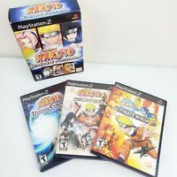 Naruto Ultimate Collection (Sony PlayStation 2, 2008) 3 Game Disc Set