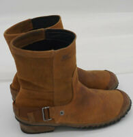 Sorel Brown Sude Boots Size 9.5 womens 2107-286 Slim Boot