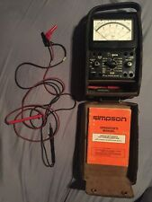 Simpson 260 Series 8 Multimeter w/ Hard Case, Manual & Leads