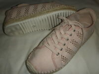 068ecba887a Marc Fisher Baila Perforated Espadrille lace-Up Sneakers Womens 6 M Blush  Pink +