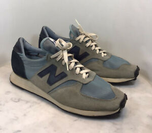 Vintage NEW BALANCE Blue Suede Sneakers Mens Size12 Rare 813?