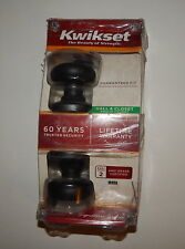 Kwikset Bed Bath Door Knob Privacy Lock 93001-870 Bright Polished Brass 300T R19