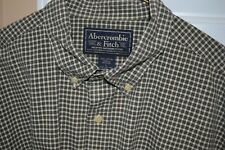 Abercrombie & Fitch Plaid Mens Button Down Short Sleeve Shirt L Large EUC