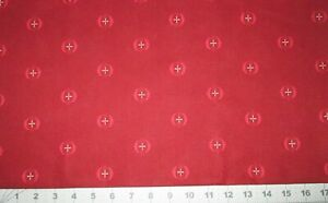 4 Yards Boundless French Velvet Red Ruby Medallion Cotton Quilt Fabric Backing