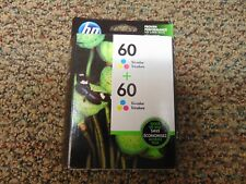 HP Genuine 60 Tri Color Ink Cartridge 2 Pack New Expires 04/2021