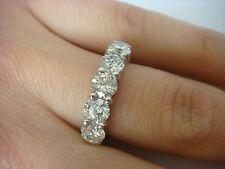 IMPRESSIVE 2 CARAT T.W. DIAMOND WEDDING-ANNIVERSARY RING LOW SET 14K WHITE GOLD