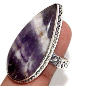Chevron Amethyst 925 Silver Plated Handmade Ring us 10 Ethnic Jewelry GW