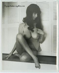 "Vintage Bunny Yeager 8"" x 10"" Photograph 1969 Topless Brunette Paula Paris"