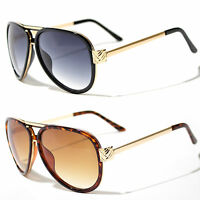 80s Extra LARGE Mens Vintage Retro Classic Fashion Designer Aviator Sunglasses