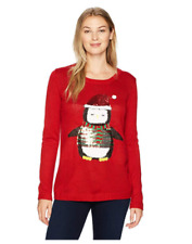 Erika Sweater Ugly Christmas Size Small Lynn Cozy Penguin Red Pullover Womens