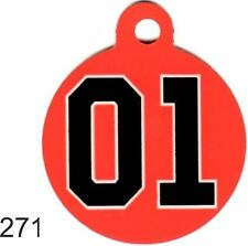 Pet Tags Personalized Pet ID tag for Dog and Cat  ROUND DUKES OF HAZZARD TAGS