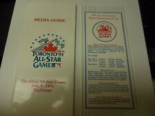 1991 MLB ALL-STAR GAME MEDIA GUIDE TORONTO BLUE JAYS SKYDOME RARE 62ND ANNUAL