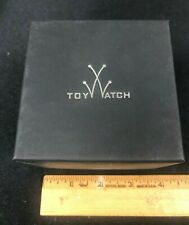 AUTHENTIC BLACK SMALL TOY WATCH DESIGNER RETAIL WATCH BOX & CASE W/PILLOW K