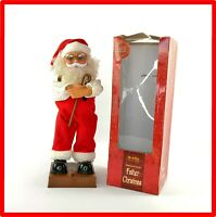 Grafix Father Christmas Singing & Dancing Vintage Ormnament Santa Boxed - VGC