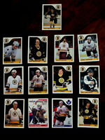 1985-86 O-Pee-Chee OPC Boston Bruins Team Set (13) - Ray Bourque - NMMT