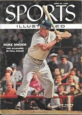 Sports Illustrated 1955 DUKE SNIDER Brooklyn Dodgers NEW YORK Baseball NO LABEL