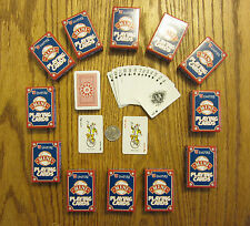 20 NEW DECKS OF MINI PLAYING CARDS MINITURE PLASTIC COATED TINY POKER CARD DECK