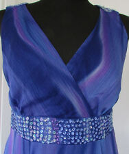 DEBENHAMS COLLECTION BLUE PURPLE PINK SEQUIN SIZE 14 PARTY DRESS RRP €77.00 NEW