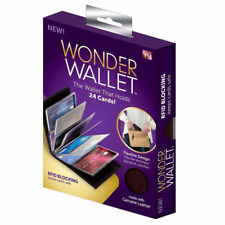NEW Original Wonder Wallet Amazing Slim RFID Wallets As Seen on TV Black Leather