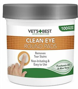Safe & Natural Wipes, Eye Cleaning Pad Dogs Tear Stain Remover Tub - SUPER UK#1