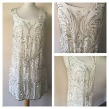 BNWTS Lovedrobe @ Evans Luxe size 20 beaded sequin cream dress, 50s Tunic H1