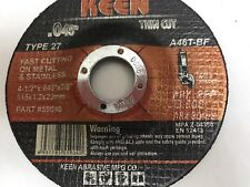 200- Raised Hub Slice-It Cut-Off Wheels 4-1/2 x .045 x 7/8 KEEN ABRASIVES 59047