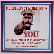 Host A 1914 Murder Mystery Dinner Party Game ~ For 10-12 Players*