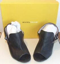 Biviel Menorca Black Open Toes Mules Size 36.5 US Size 6 ½