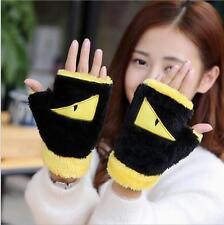 2016新款冬季毛絨半指手套韓版加厚學生情侶保暖手套.