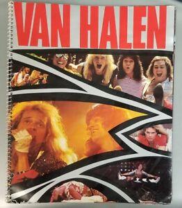 EDDIE VAN HALEN 1984 WORLD TOUR SPIRAL CONCERT PROGRAM BOOK - VG