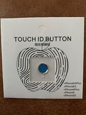Fingerprint Touch ID Home Button Protector Sticker For iPhone 5S 6 Plus Blue
