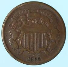 1865 Two Cent Piece Early US 2 Cent Coin Lot E725