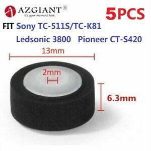 5pcs 13x6.3x2mm Cassette Pinch Roller Tape Retractor Press Belt Pulley Deck