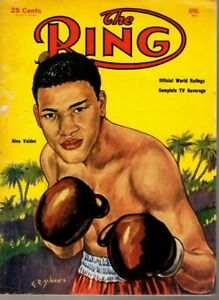 1954 (April) The Ring Boxing magazine, Nino Valdes ~ Fair
