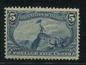 1898 US Stamp #288 5c Mint Hinged Very Fine Original Gum Catalogue Value $160