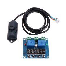 DC 12V Temperature Humidity Control Controller Thermostat Humidistat w/ Sensor