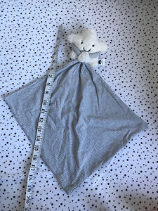 Jellycat Little Star Soother Comforter Blanket Grey White Retired Snuggy