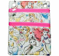 Disney Princess Passport Bag Crossbody Purse, Ariel, Belle, Cinderella, Aurora