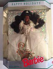 Vintage Happy Holidays Barbie #2396 African American Nrfb