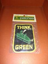 Vintage 1972 John Deere Snowmobile Patch in Original Package Think Green