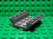 Lego NEW dark bluish gray 4 x 4 double inverted slope pieces  Lot of 5